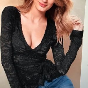 Victoria's Secret Lace Wrap Top